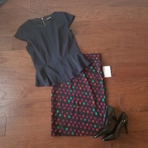 LuLaRoe Tulip Print Cassie Skirt NWT